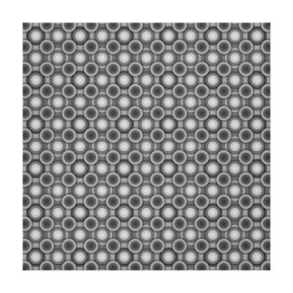 Schwarze, graue und weiße Täuschungs-Kreise Leinwanddrucke