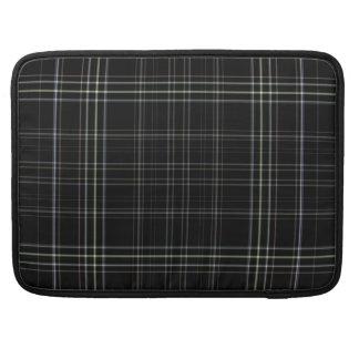 Schwarze karierte Macbook Prohülse Sleeves Für MacBook Pro