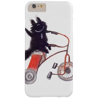 schwarze Katze auf Fahrrad Barely There iPhone 6 Plus Hülle