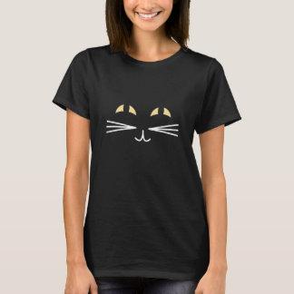 Schwarze Katze Halloween T-Shirt