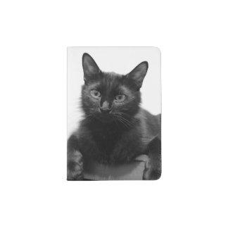Schwarze Katze Passhülle
