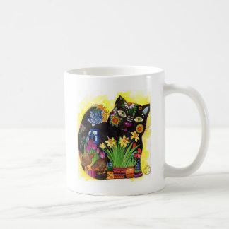 Schwarze Katze Tasse