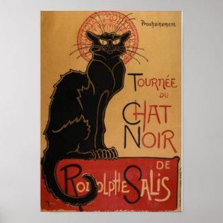 Schwarze Katzen-Café Poster
