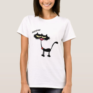 Schwarze Katzen-Cartoon Charactrer T-Shirt
