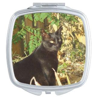 Schwarze Katzen-Morgen Sun Schminkspiegel