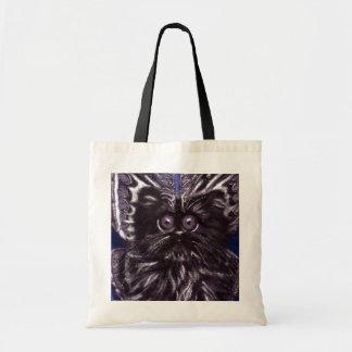 Schwarze Katzen-Motten-Katzen-Taschen-Tasche Tragetasche