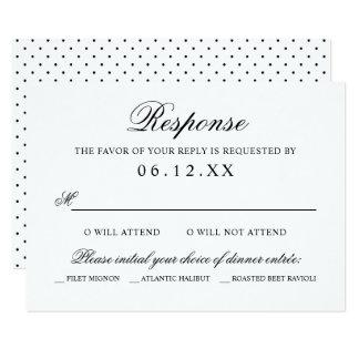 Schwarze klassische Eleganz der 8,9 X 12,7 Cm Einladungskarte