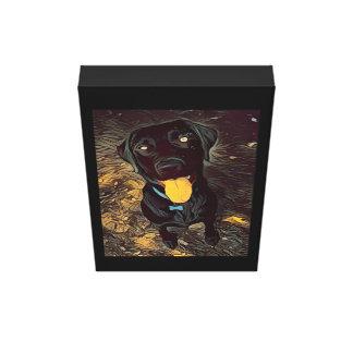 Schwarze Labrador-Malerei Leinwanddruck