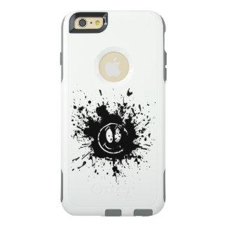 schwarze Lächelngesichts-Stellenkunst OtterBox iPhone 6/6s Plus Hülle