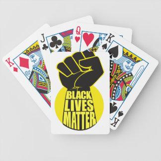 Schwarze Leben-Angelegenheits-Spielkarten Pokerkarten