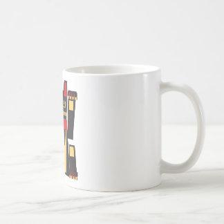 schwarze Maneki Neko Katze Kaffeetasse