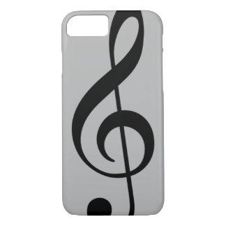 schwarze musikalische Anmerkung des dreifachen iPhone 8/7 Hülle