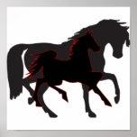 Schwarze Pferde Plakatdrucke