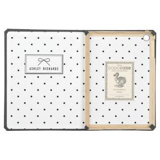 Schwarze Polka-Punkte personalisiertes iPad Air