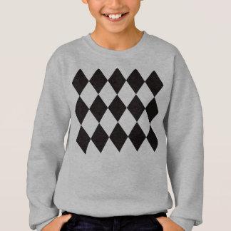 Schwarze Rauten-Diamanten Sweatshirt
