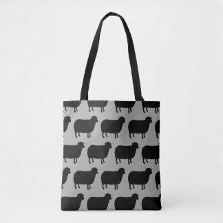 Schwarze Schaf-Silhouette-Muster