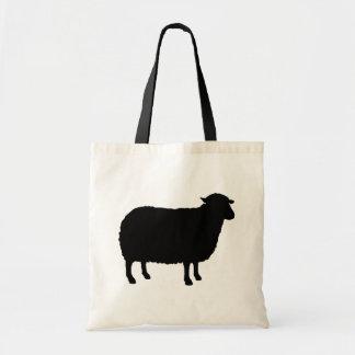 Schwarze Schaf-Silhouette Tragetasche