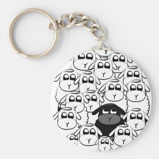 Schwarze Schafe Schlüsselanhänger