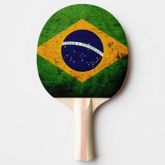 Schwarze Schmutz-Brasilien-Flagge Tischtennis Schläger