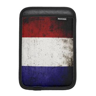 Schwarze Schmutz-Frankreich-Flagge Sleeve Für iPad Mini
