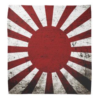 Schwarze Schmutz-Japan-aufgehende Sonne-Flagge Kopftuch