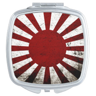 Schwarze Schmutz-Japan-aufgehende Sonne-Flagge Taschenspiegel