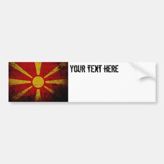 Schwarze Schmutz-Mazedonien-Flagge Autoaufkleber