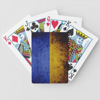 Schwarze Schmutz-Ukraine-Flagge Bicycle Spielkarten