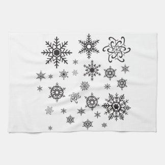 Schwarze Schneeflocken Handtuch