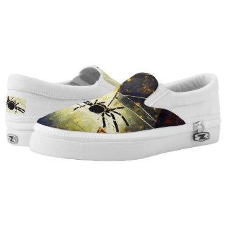 Schwarze Spinne Slip-On Sneaker