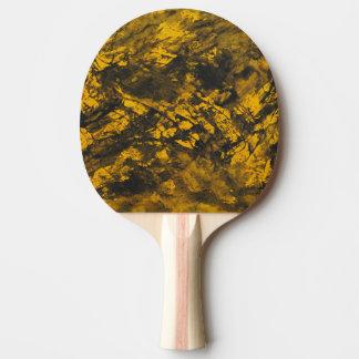 Schwarze Tinte auf gelbem Hintergrund Tischtennis Schläger