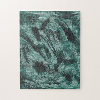 Schwarze Tinte auf grüner Markierung Puzzle