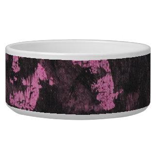 Schwarze Tinte auf rosa Hintergrund Napf