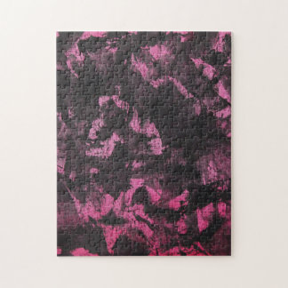 Schwarze Tinte auf rosa Hintergrund Puzzle