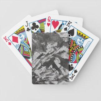 Schwarze Tinte auf weißem Hintergrund #2 Bicycle Spielkarten