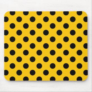 Schwarze Tupfen auf Gelb Mauspad