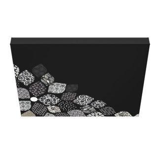 Schwarze u. weiße Blumenblätter Leinwanddrucke