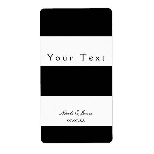 Schwarze u. weiße klumpige Streifen-schicker Großer Adressaufkleber