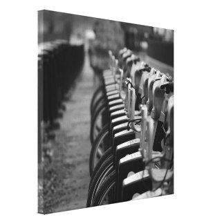Schwarze u. weiße Leinwand Gespannte Galerie Drucke