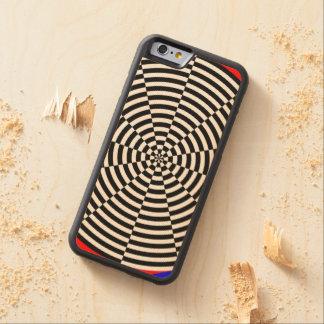 Schwarze u. weiße Strahlung Bumper iPhone 6 Hülle Ahorn