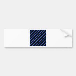 Schwarze und blaue Streifen Autoaufkleber