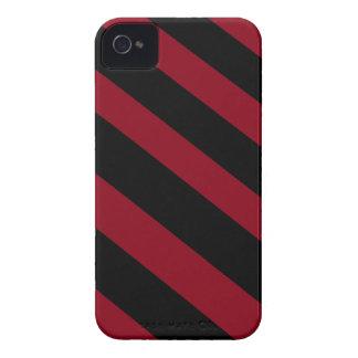 Schwarze und rote Diagonalen iPhone 4 Etuis