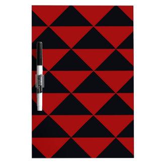 Schwarze und rote Dreiecke Trockenlöschtafel