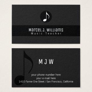 schwarze Visitenkarte des Musikers mit