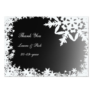 schwarze Winterhochzeit danken Ihnen 12,7 X 17,8 Cm Einladungskarte
