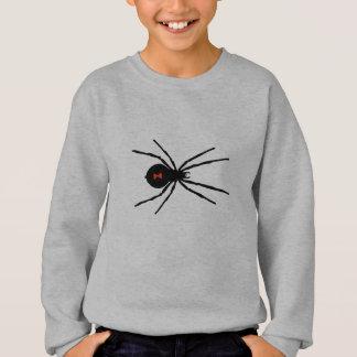 Schwarze Witwen-Spinne Sweatshirt