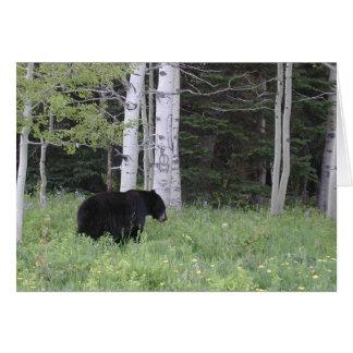 Schwarzer Bär in Nanowatt-M.Ü. Notecards Karte