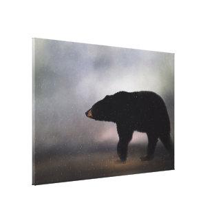 Schwarzer Bär Pennsylvanias in Winter Leinwanddruck