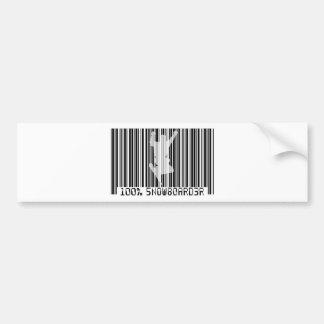 Schwarzer Barcode 100% des SNOWBOARDERS 2 Autoaufkleber