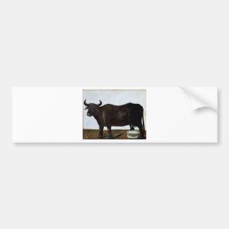Schwarzer Büffel auf einem Weißhintergrund (Teil Autoaufkleber